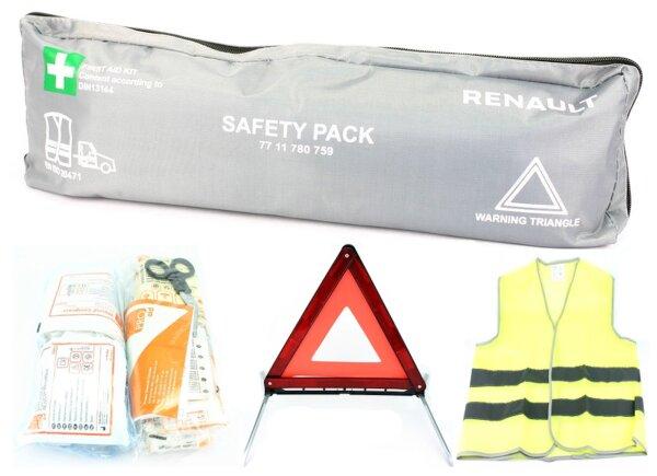 3in1 Komplett-Set KFZ Verbandskasten - Erste Hilfe - Warndreieck - Warnweste